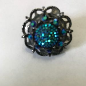 Vintage purple and green ring.  Size 6